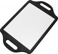 Зеркало MR016 черное заднего вида с двумя  ручками  36*22см