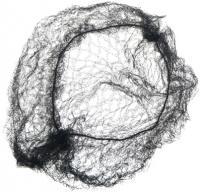 Сеточка-паутинка СЕ050 малая черная 2шт