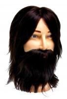 Голова М-880BD-6 шатен мужская натурал. с бород.и усами 35см