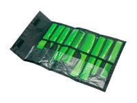 Набор расчесок СО-9-Light Green в чехле салатовый