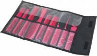 Набор расчесок СО-9-RED в черном чехле красный 9шт